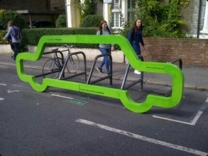 Cycle rack in Orford Road