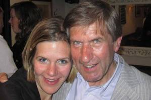 Anna Tatton-Brown with father Michael Mason