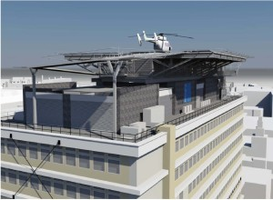 How it will look: helipad at King's College hospital