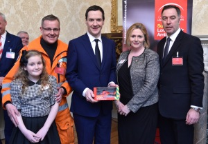 From left: Alana McDonald, Dr Gareth Davies, George Osborne, Mary Macleod MP, LAA chief executive Graham Hodgkin