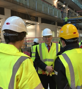 Vince Cable visiting the Francis Crick Institute in King's Cross