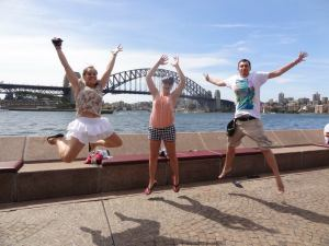 Fiona, Suzy and James in Sydney