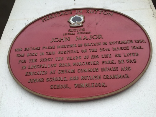 Born at St Helier - former Prime Minister John Major