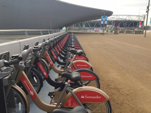 Boris bike rack aquatics centre