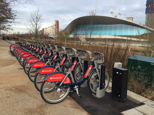 Boris bike rack near Orbit