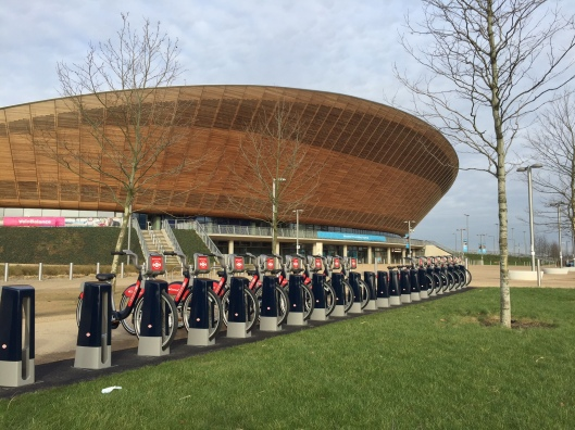 Boris bikes at velodrome