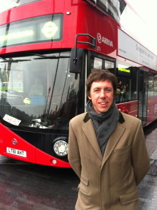 Stuart Ross and the new Boris bus