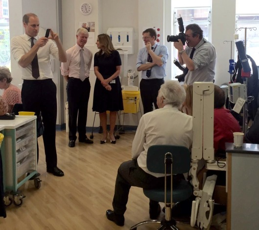 Prince Wiliam turns cameraman at Royal Marsden