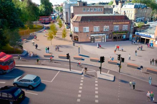 Highbury Corner proposed pedestrianisation