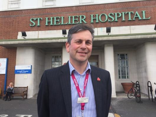 Daniel Elkeles at St Helier hospital