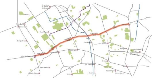 London Boulevard map