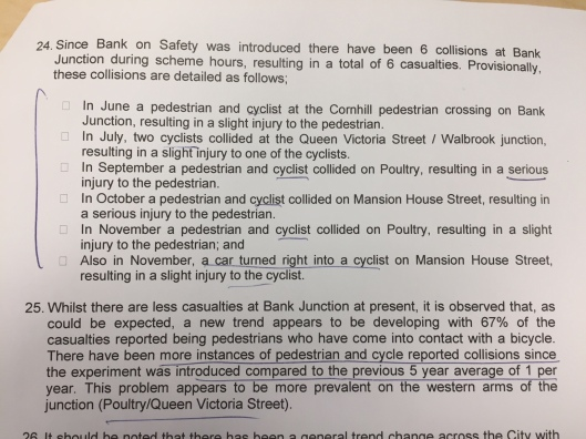 Bank junction collisions