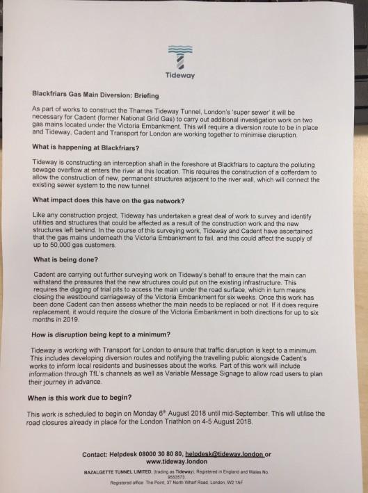 Tideway briefing note 1