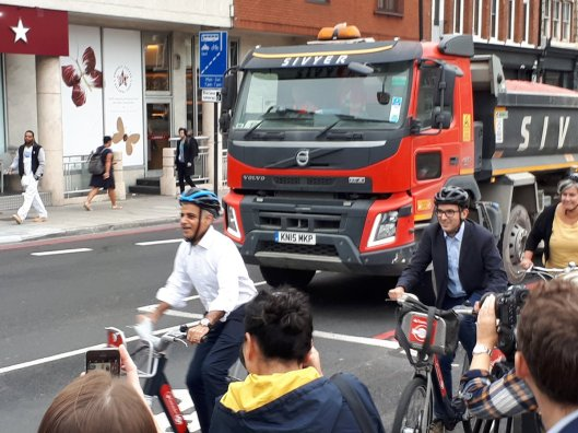 Sadiq rides bike on CS6 extension