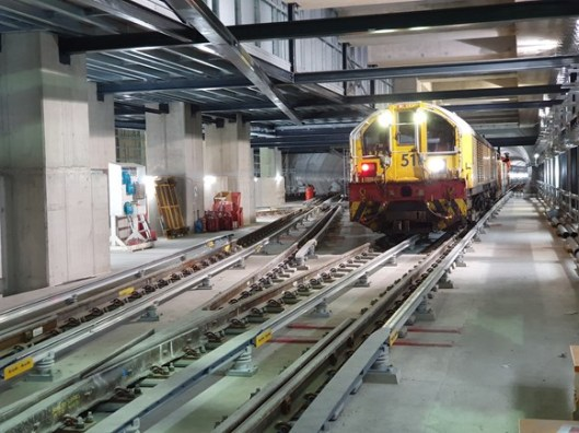 Engineering train on Northern Line extension