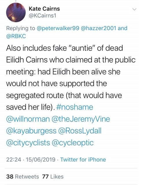 Kate Cairns tweet 2