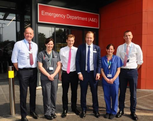 Matt Hancock at Croydon hospital 3