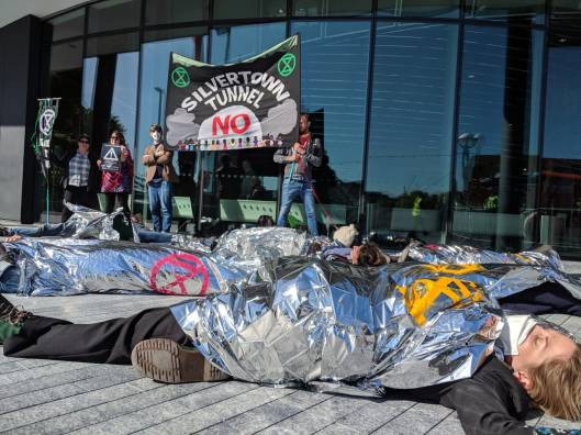 Silvertown Tunnel die in protest at City Hall