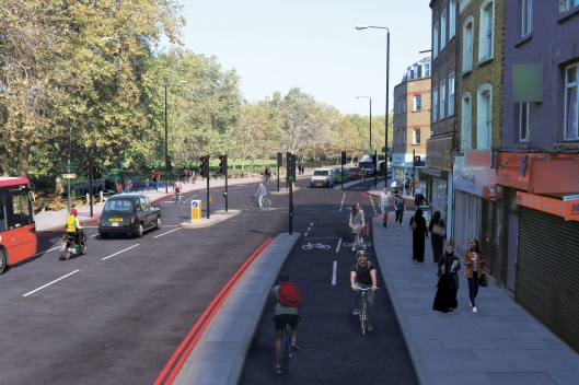 Hackney to Westferry cycleway