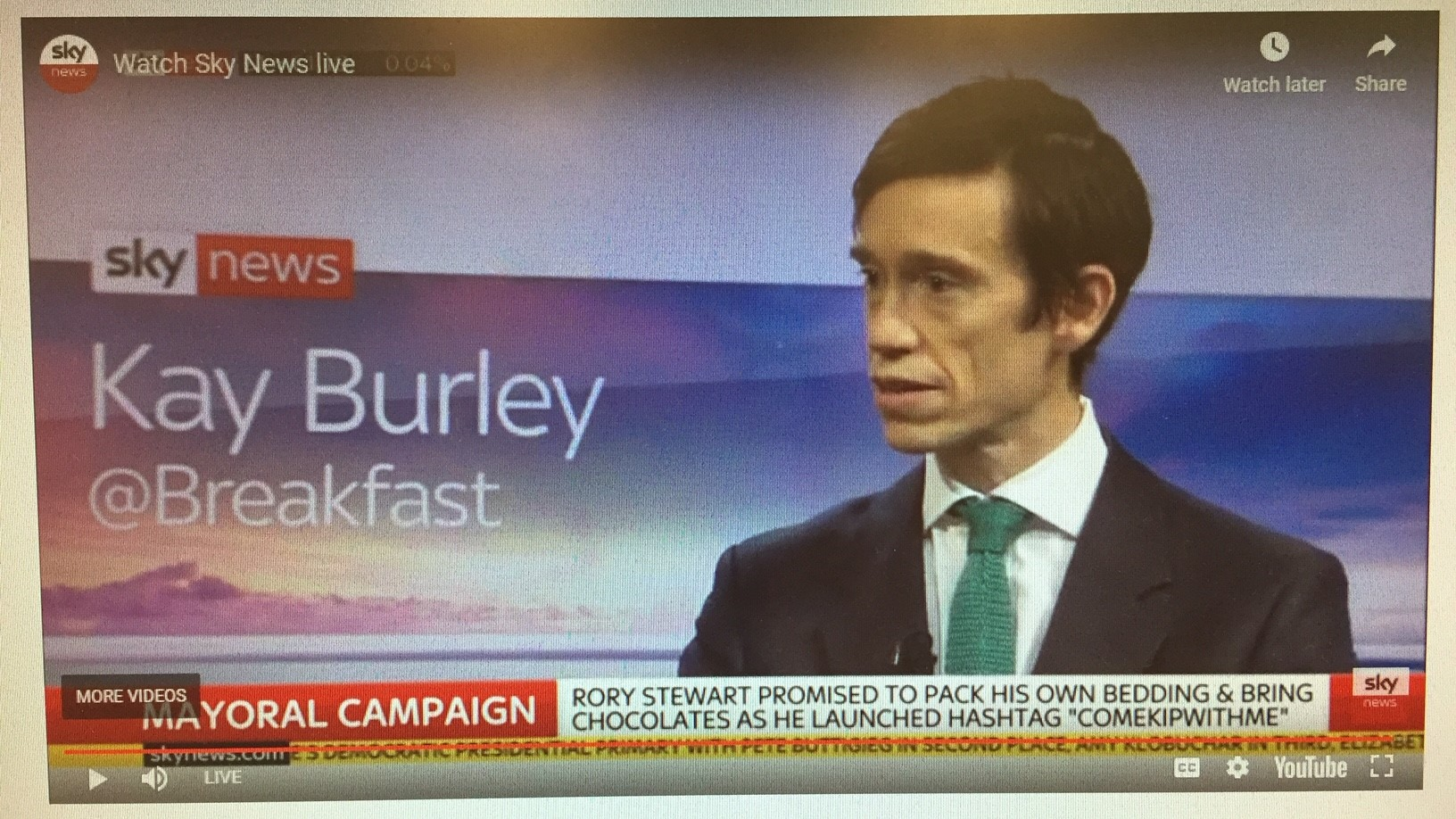 Rory Stewart on Kay Burley