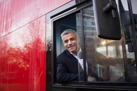 Sadiq Khan bus driver